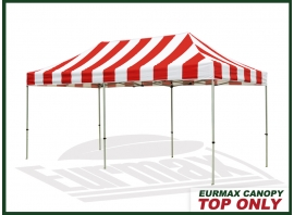 10x20-Carnival-Replacement-Canopy-Top (Select-Color-Red/White)