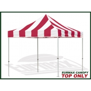 10x10-Carnival-Replacement-Canopy-Top (Select-Color-Red/White)