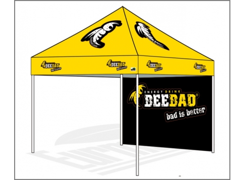 sc 1 st  eurmax.com & 10x10 Custom Canopy top only with back wall BEEBAD C1631