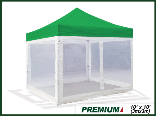 premium 10x10 pop up canopy 4 screen zipper wallsselect color