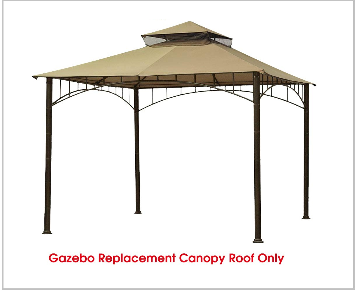 Eurmax Double Tiered Gazebo Replacement Canopy Roof Top Is Perfect
