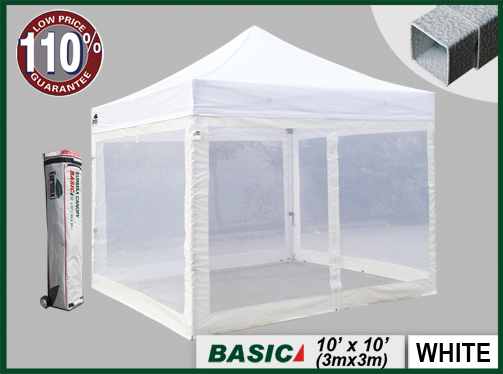 & EURMAX Basic 10x10 Canopy Tent W/ Screen zipper Walls - Eurmax.com