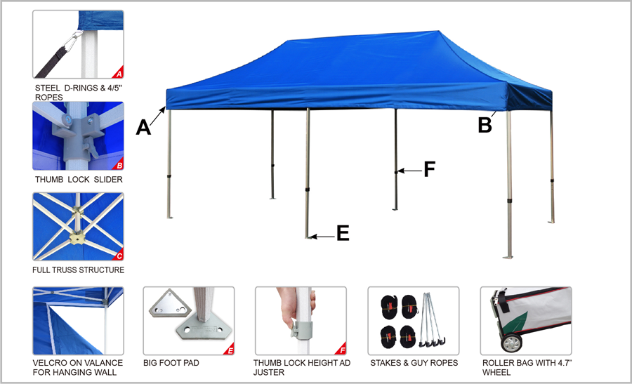 Canopies 10x20 Pop Up Canopy